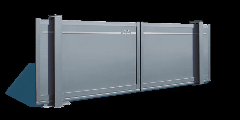 modele aluminium composite Portaleco twinslide coulissant autoportant