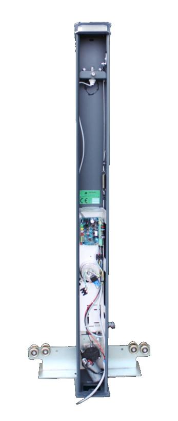intérieur du pilier moteur d'un portail coulissant Portaleco