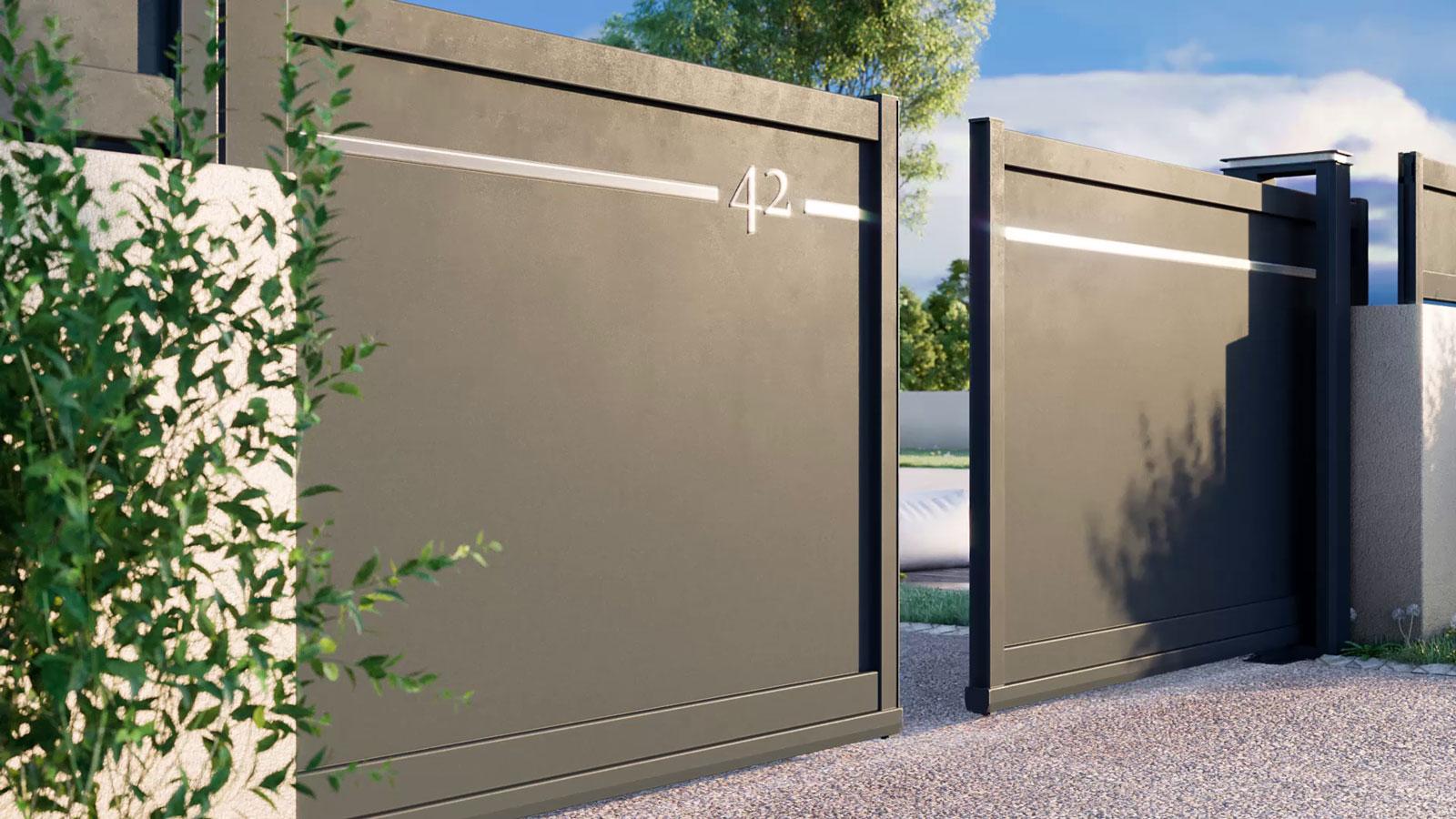 portail twinslide aluminium composite street Portaleco