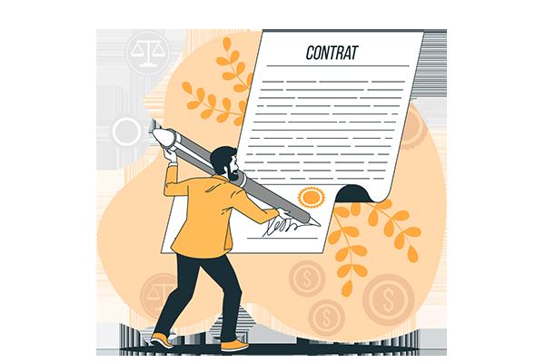 illustration signature contrat de vente portail