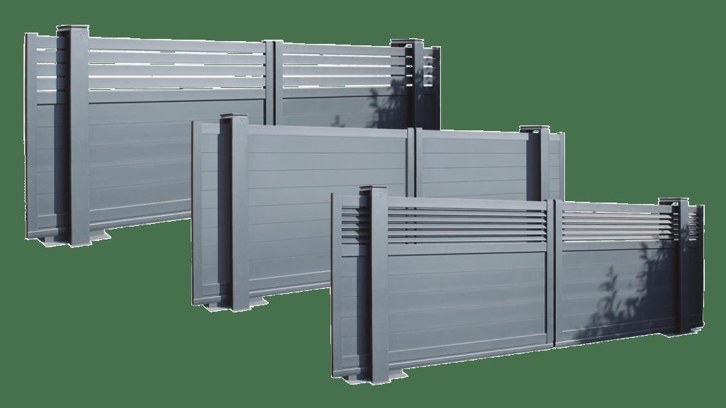 designs portail coulissant Portaleco twinslide composite aluminium