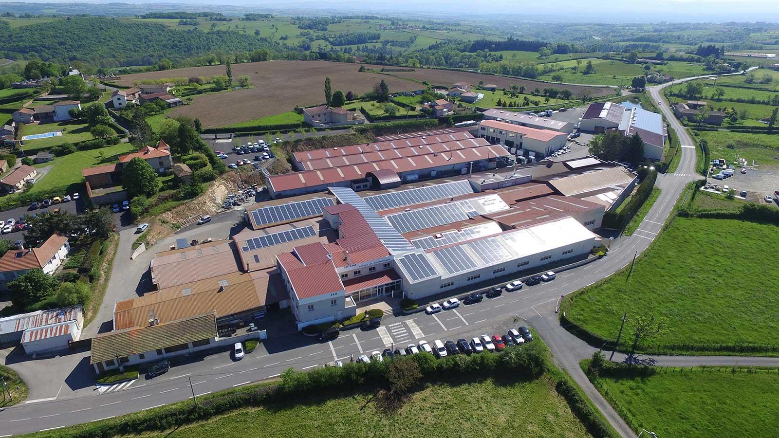 vue aérienne de l'usine Doitrand Portalux Portaleco