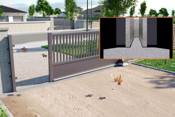Fonctionnement portail coulissant avec rail au sol classique
