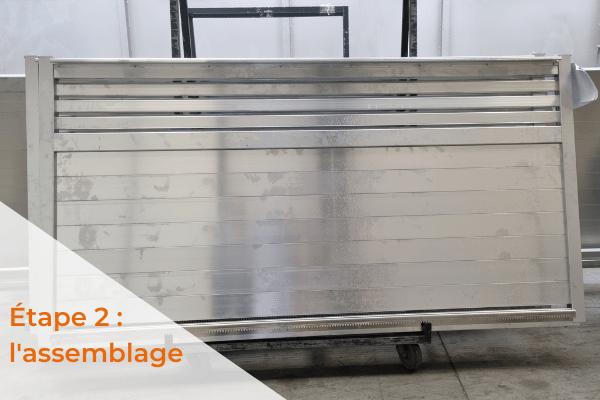 L'assemblage fabrication d'un portail aluminium