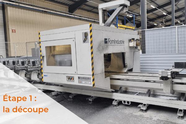 La découpe fabrication portail aluminium