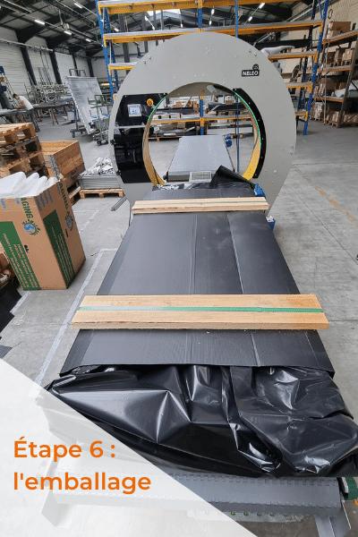 Emballage avant expedition portail aluminium