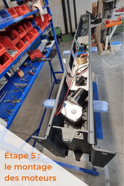 Montage du moteur fabrication portail aluminium